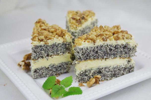 2ed4323e6e30e Makový koláč s vanilkovým krémom | Pečené-varené.sk